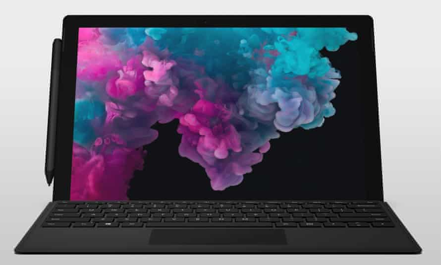 The new Microsoft Surface Laptop 2 in black.