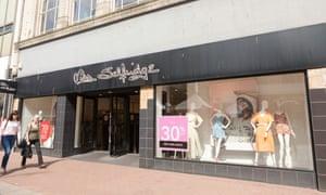 Miss Selfridge store in Southend on Sea