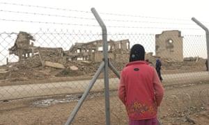Iraqi woman at an IDP camp