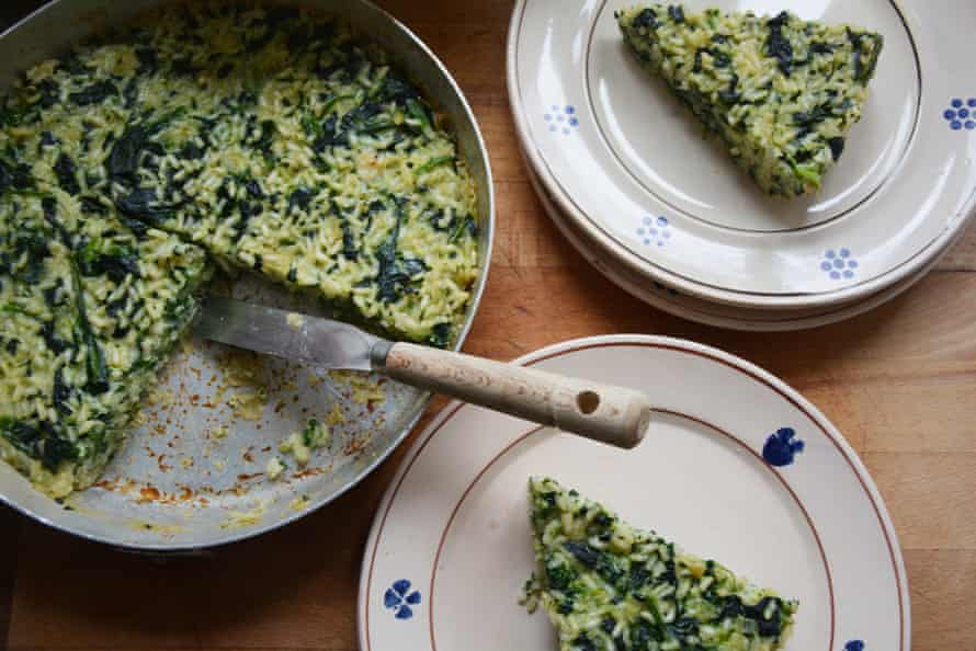 Rachel Roddy's spinach and rice cakes