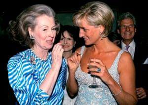 Raine Spencer with Princess Diana