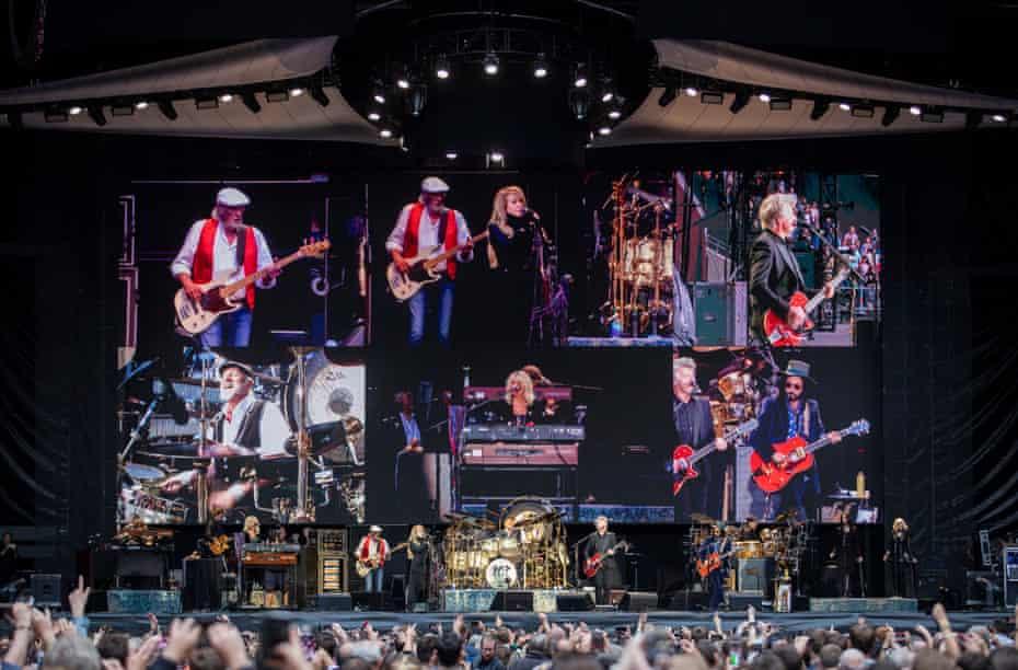 Fleetwood Mac onstage at Wembley