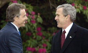 Blair and Bush in Northern Ireland in 2003.