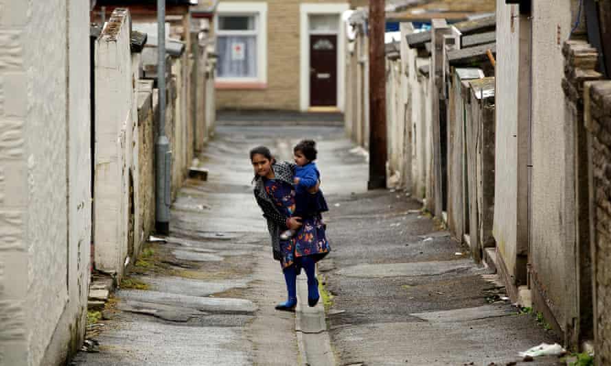 Children in Brierfield, Lancashire