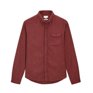 rust coloured shirt long sleeves