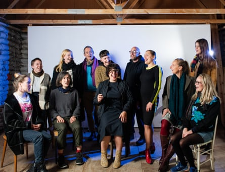 The Cafe Oto Experimental choir, with Jennifer Lucy Allan, back row, second from left.