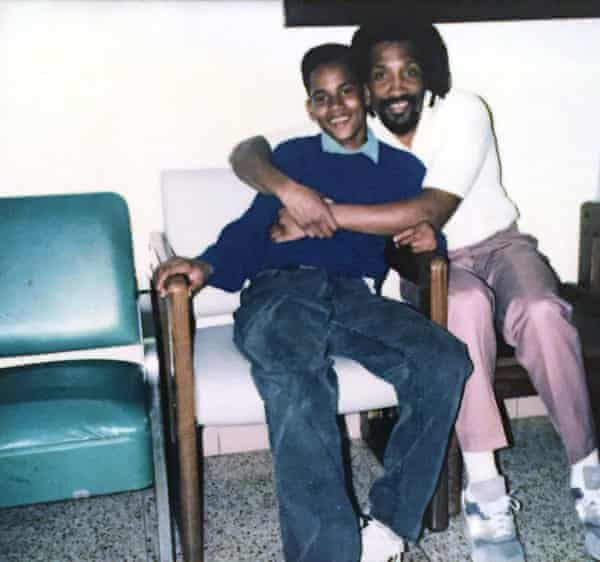 Father and son, Mike Davis Africa Sr and Jr, in Huntingdon state correctional institution in 1993. Mike was 14.