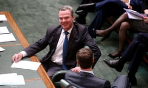The leader of the house Christopher Pyne.