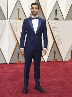 Riz Ahmed in blue