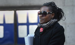 Fiona Onasanya outside the Old Bailey in London