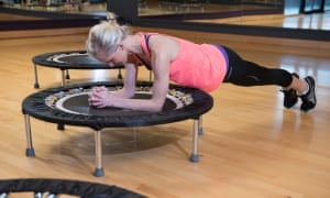 A rebounder can be used in a variety of ways to help strengthen and tone