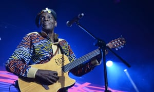 Oliver Mtukudzi, known universally as Tuku, performing in Sandton, South Africa, last year.