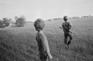 The Locusts, the first major monograph by photographer and publisher Jesse Lenz. After a few years of living and traveling North American in an airstream with his family, Lenz settled down in a farm in rural Ohio. He began photographing his children as they ran wild in fields, built forts in the attic, and fell asleep surrounded by lightsabers and superheroes.