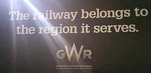 The offending poster from 'Great Western Railway'.