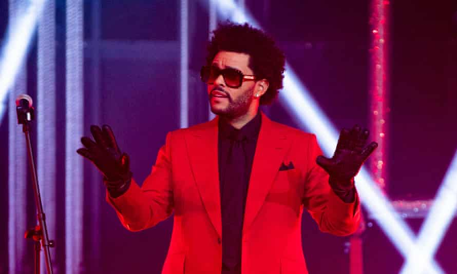 The Weeknd performing in January.