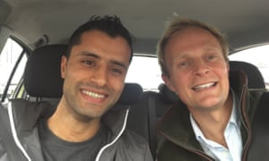 Interpreter Mohammad Hares (left) and former British army captain Ed Aitken in Manchester.