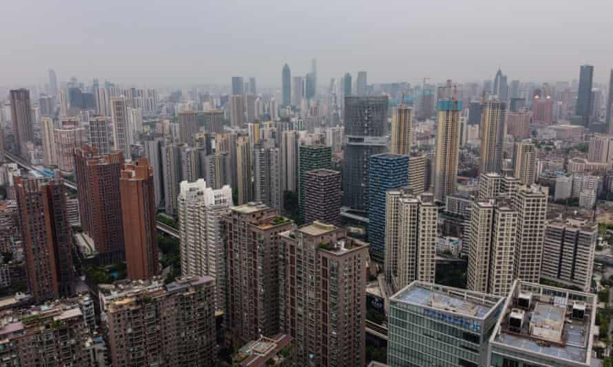 aerial photo of wuhan, china, the centre of the coronavirus outbreak