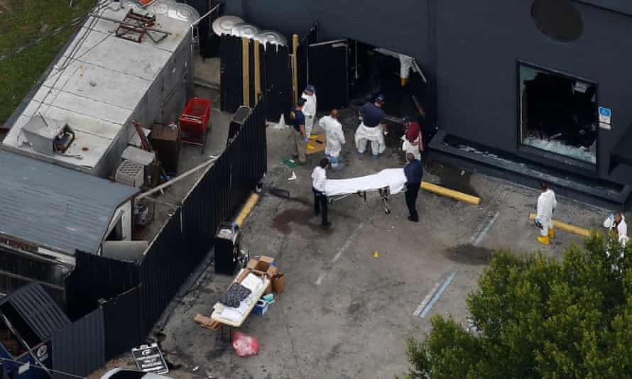 Bodies being recovered from the Pulse nightclub on Sunday.