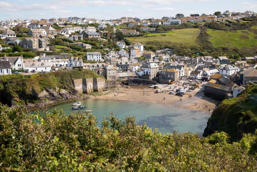 A view of the harbour at Port Isaac.