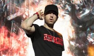 Eminem. who has said Trump 'makes my blood boil'.