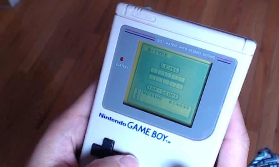Rutherford Chang playing Tetris on the Game Boy