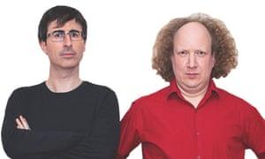 John Oliver, left, and Andy Zaltzman.