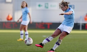 Georgia Stanway scores her side's 10th and final goal for Manchester City against Ipswich.