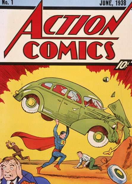 Superman's first appearance, in 1938.