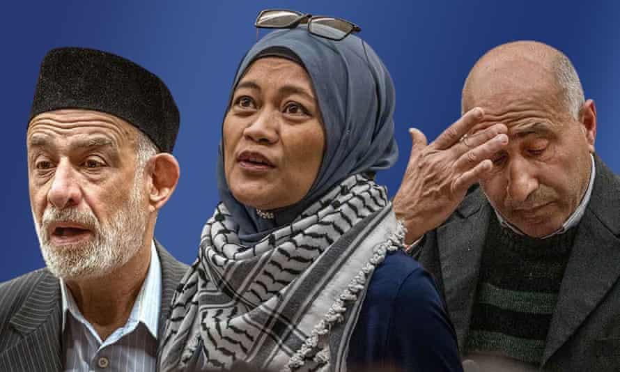 Composite image of three Christchurch survivors