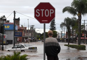 The main streets of Lismore are underwater