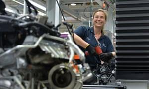 Engine production at BMW's Hams Hall plant near Birmingham in 2015.