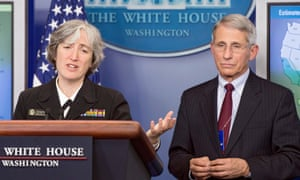 Anne Schuchat and Anthony Fauci