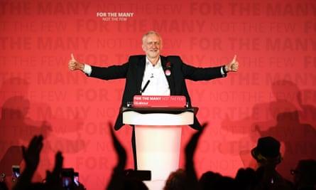 Jeremy Corbyn at Union Chapel, Islington, on Wednesday evening