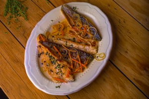 'Especially good with trout': pesce al carpione.