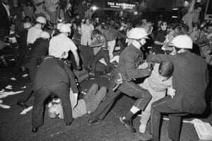 'My own children, in their mid-20s, have asked me more than once how 1968 compares to 2018.' Police and demonstrators near the Conrad Hilton hotel during the Democratic national convention in Chicago, Illinois in 1968.