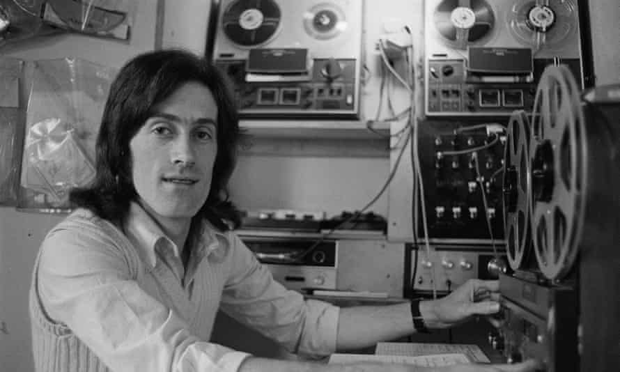 Rupert Hine in a recording studio in the early 1970s. He liked to explain about his production work: 'I always treated it much more like a therapist, in other words, what is this artist trying to say?'