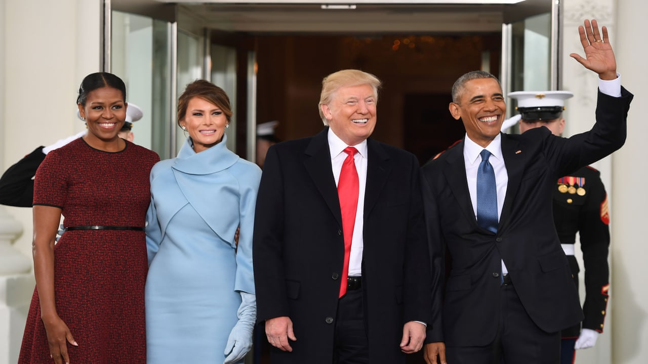 The Obamas Greet The Trumps At The White House Video World News
