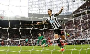 Newcastle United's Joselu celebrates