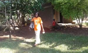 Harriet Nabukwasi in Tororo, eastern Uganda, working as part of the Solar Sister programme