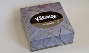 dry your eyes with a huge outdated tissue kleenex mansize is no