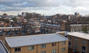 View from Packington Street apartments of Hackney.