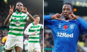 Celtic's Odsonne Édouard; Rangers' Joe Aribo.