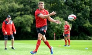 Dan Biggar during Wales training on Thursday