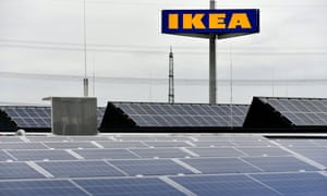 IKEA opens 'More Sustainable Store' in Kaarstepa06259579 The roof with solar panels of the IKEA store in Kaarst, Germany, 11 October 2017. The world's most sustainable store of the Swedish home furnishing company IKEA opens on 12 October 2017. The 'More Sustainable Store' reflects the theme of sustainability in all its facets - from the use of environmentally friendly techniques and an exceptional architectural concept to regional service providers and local cooperations. EPA/SASCHA STEINBACH
