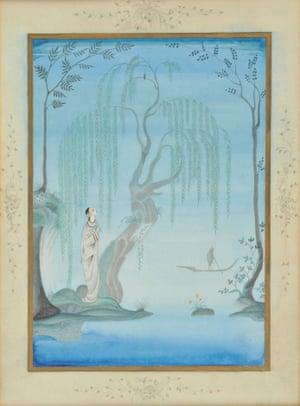 Full image of Kay Nielsen's 1923 illustration to Hans Christian Andersen's fairytale.