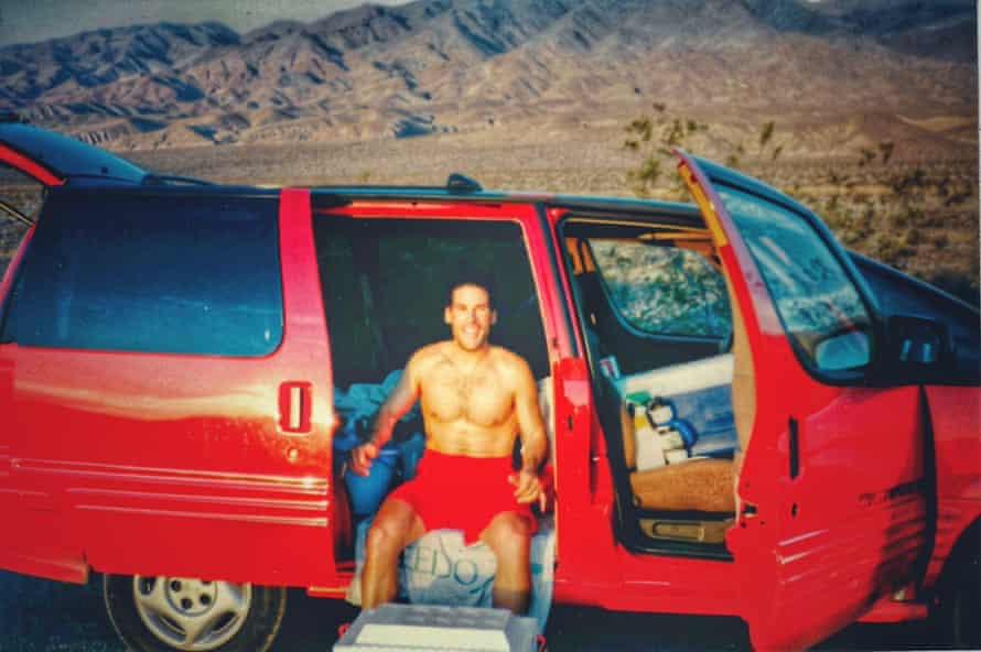 Dean Karnazes, an ultra runner, in Death Valley in 1996.