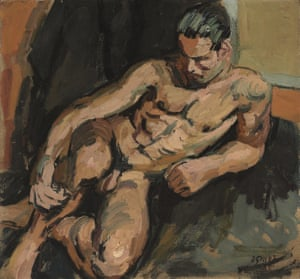 Brian Sewell's painting Reclining Nale Nude by Duncan Grant (estimate £20,000-£30,000).