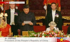 The President of the People's Republic of China, Mr Xi Jinping makes his speech.