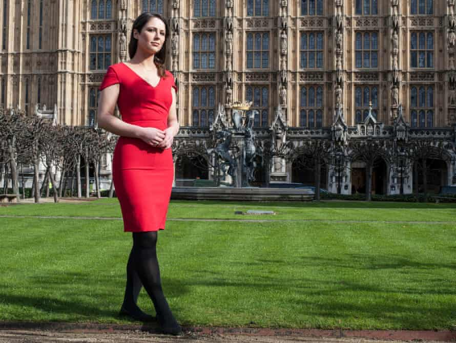 Nicola Thorp outside the  Commons