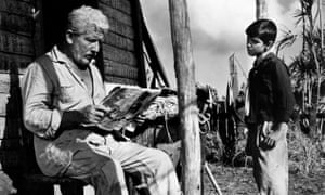 Spencer Tracy and Felipe Pazos in the 1958 film version of The Old Man and the Sea